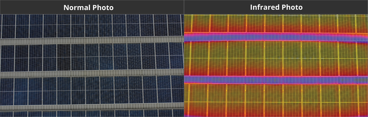 Solar panels - Infrared Image